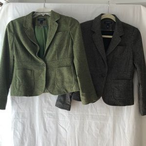 Lot of 2 Land's End Tweed Jackets Size 6 Petite